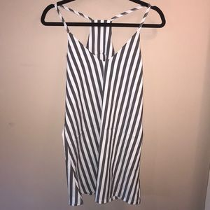 White and grey stripped summer dress.